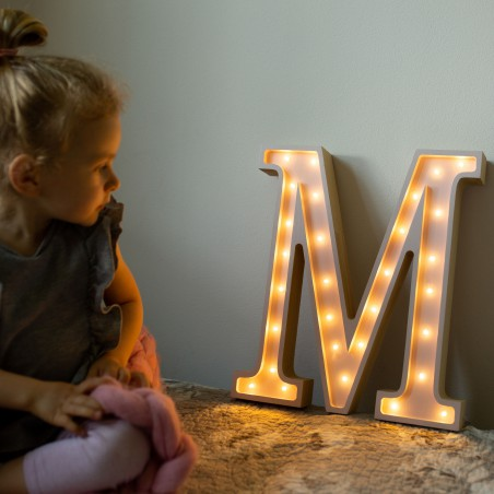 Letter M Lamp Lights My Love
